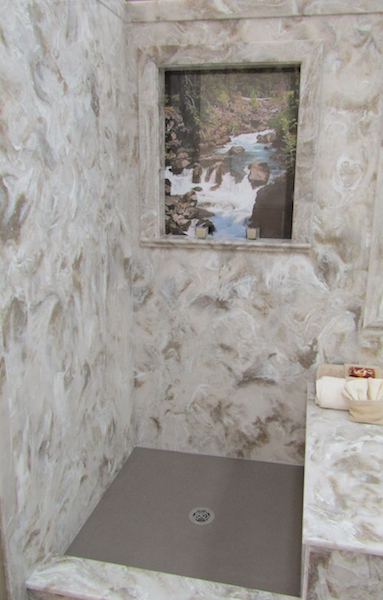 cultured stone shower