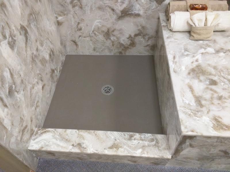 cultured stone floor drain