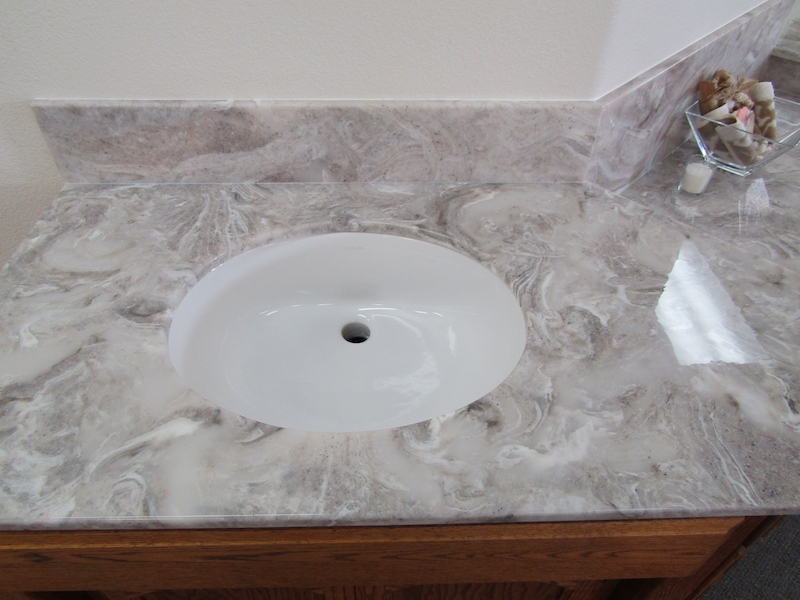 cultured stone oval sink