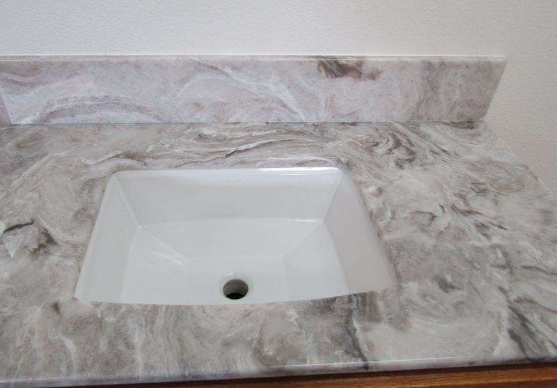 countertop bathroom - cultured granite - Medford, Oregon