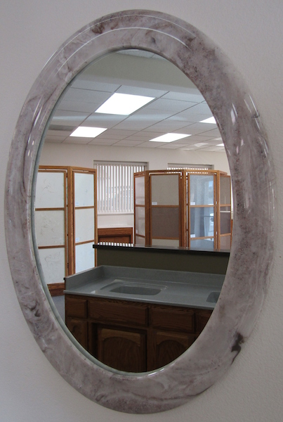 cultured stone wrap around mirror