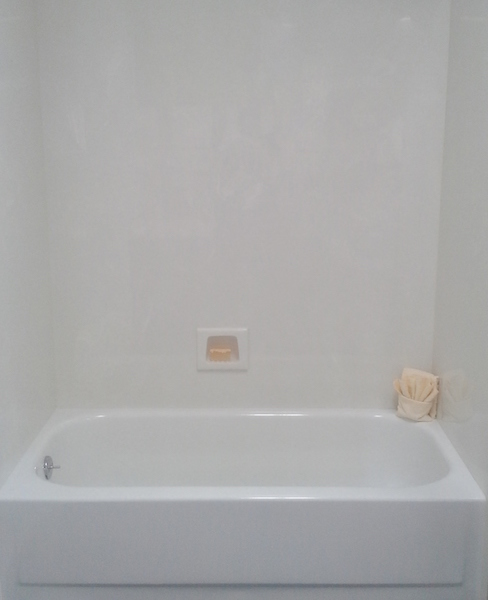 cultured stone tub and shower