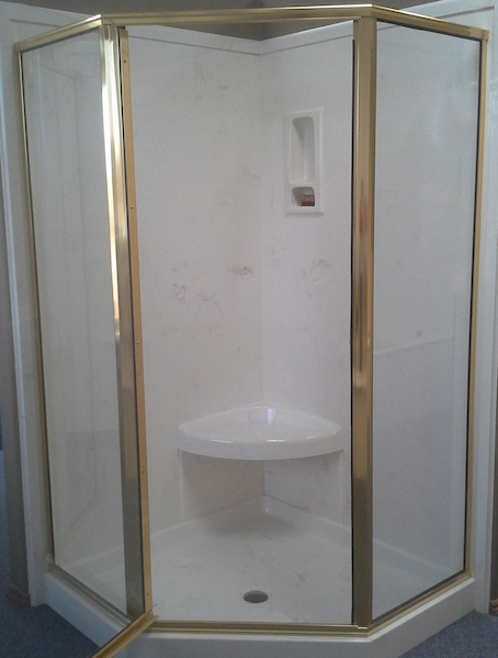 cultured stone enclosed shower
