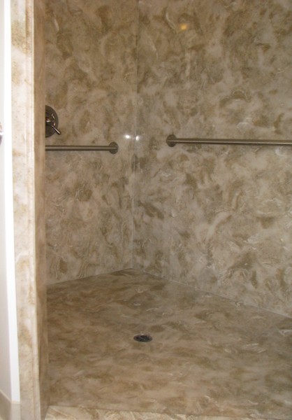 cultured granite elite walk in shower