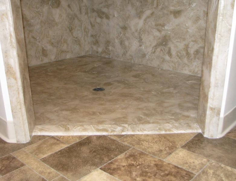 ... Cultured Granite Elite Walk In Shower ...