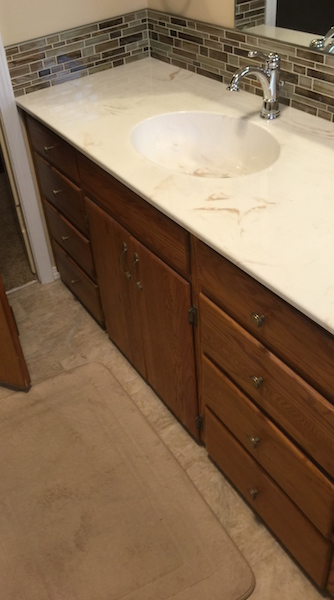 countertop bathroom - cultured granite - Ashland, Oregon