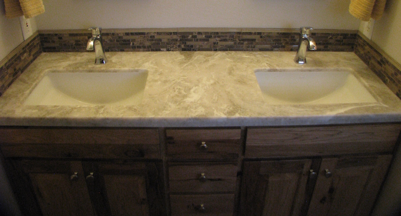 countertop bathroom - cultured granite - Central Point, Oregon
