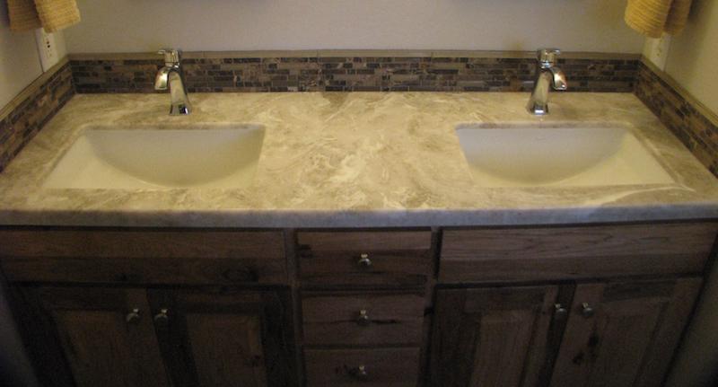 cultured stone double vanity