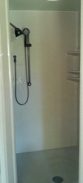 cultured granite shower