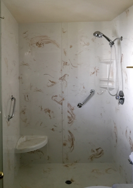 cultured marble walk in shower