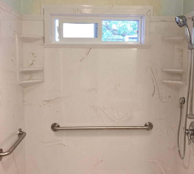 cultured marble shower with class