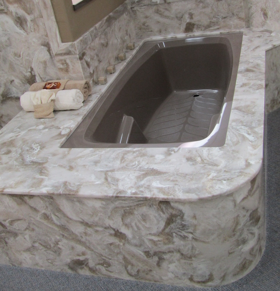 cultured stone curved skirtng