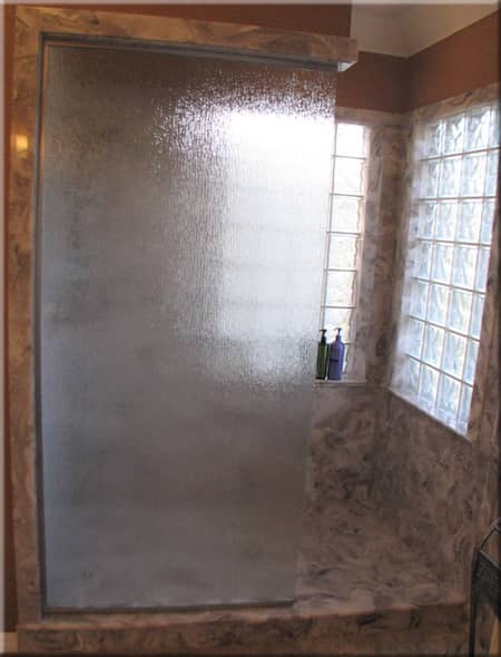 cultured marble shower doorway