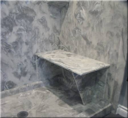 cultured marble shower seat