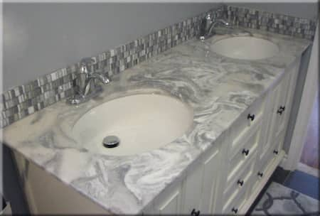 cultured marble two sink vanity