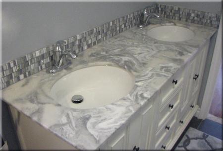 ... Cultured Marble Two Sink Vanity ...
