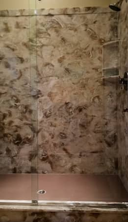 cultured marble shower full view