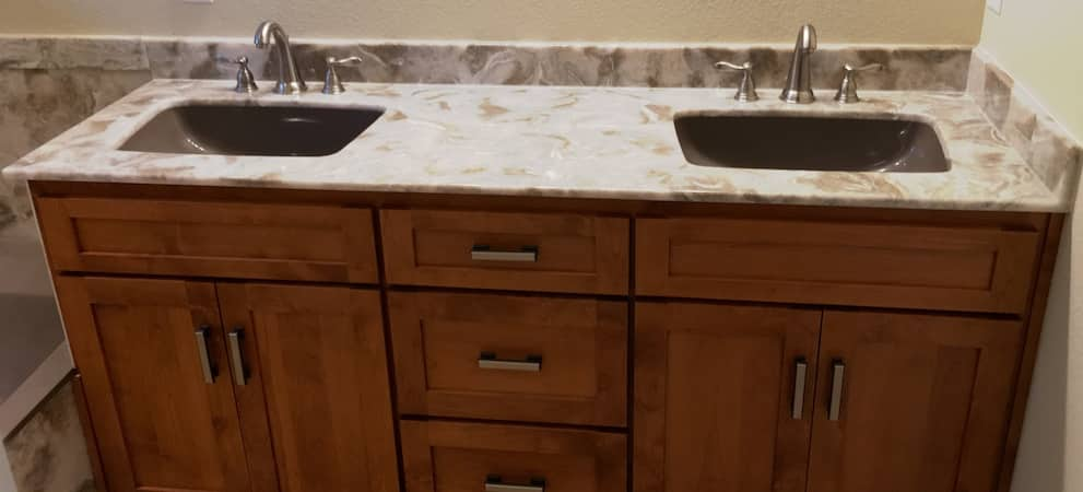 countertop bathroom - cultured granite in White City, Oregon