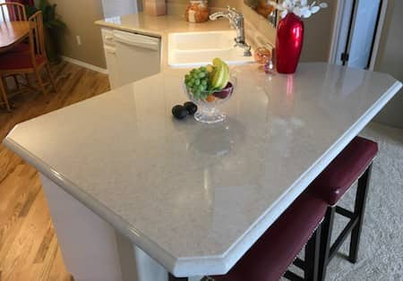 countertop kitchen - cultured granite in Central Point, Oregon