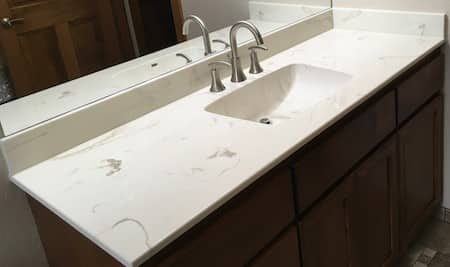 countertop bathroom - cultured granite - Grants Pass, Oregon